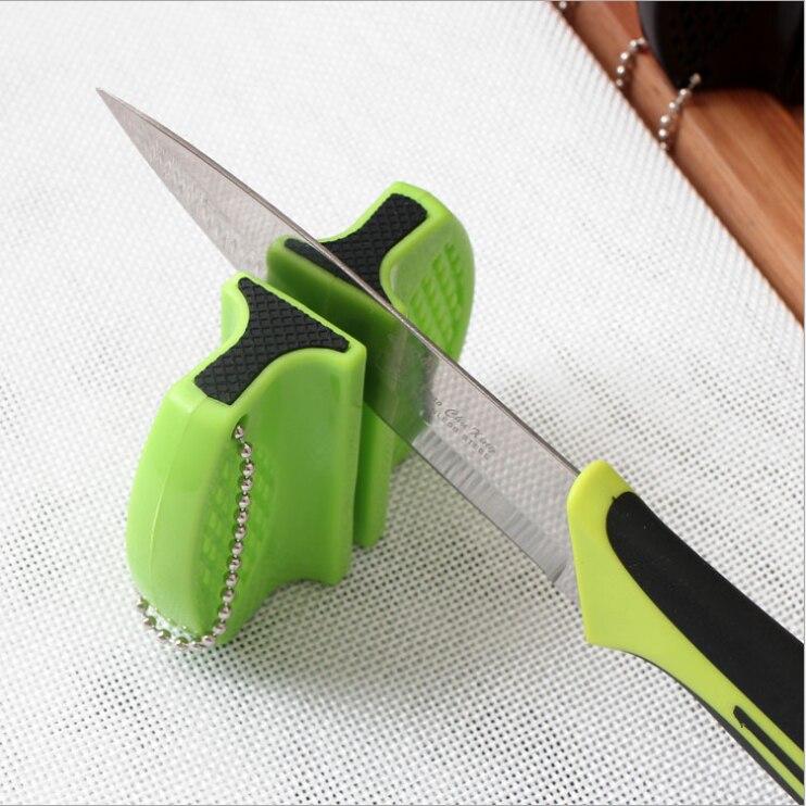 แบบพกพา Mini Sharpener มีดครัวเครื่องมือห้องครัวอุปกรณ์เสริม Creative Butterfly Type สองขั้นตอน Camping Pocket Sharpener
