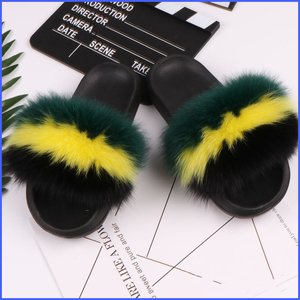 Real Fur Slippers Women Shoes