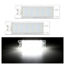 2 pièces LED numéro plaque d'immatriculation lumières pour Opel Astra H J Corsa C D Insignia Tigra B Twintop Vectra C Zafira B OPC Vauxhall(China)