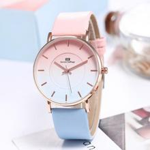 2019 The New Women's Simple Leather Quartz Watch Women Ladies Dress Wat