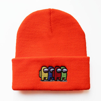 Unisex Game Among Us Knitted Hat Cap for Kids Among Us Game Hip Hop Hat Children Cold Proof Keep Warm Short Color Simple Hat image