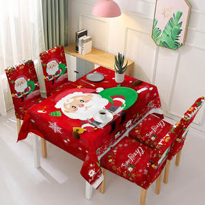 Christmas-Tablecloth Table-Covers Kitchen Home Rectangular Party Print Santa-Claus