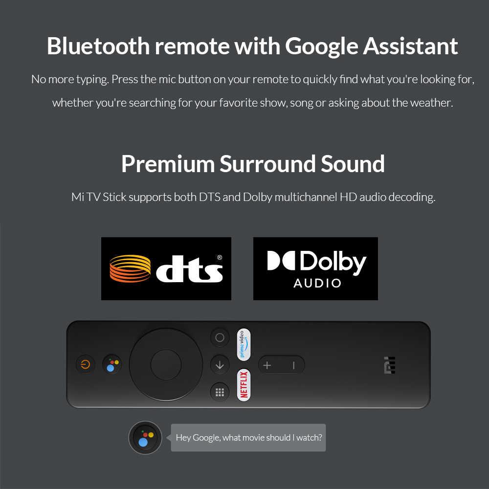In Magazzino! Xiaomi Mi TV Bastone Android TV 9.0 Quad-core 1080P Dolby DTS HD Dual Decodifica 1GB di RAM 8GB di ROM Google Assistente Netflix