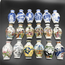 Chinese Blue and White Porcelain Vase Fridge Magnet Souvenir Painted Ceramic Crafts Fridge Magnet Set Chinese Business Gifts