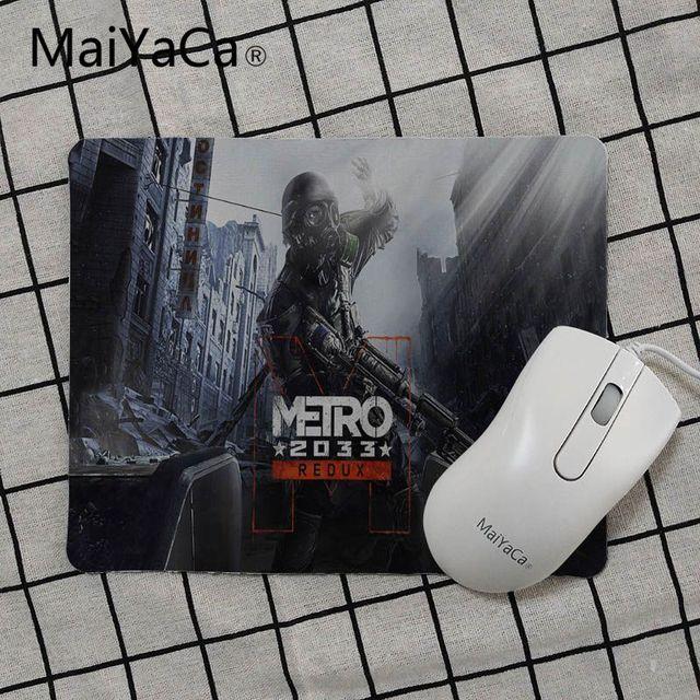 MaiYaCa haute qualité Metro 2033 papier peint souris de bureau en caoutchouc jeu gamer tapis de souris de jeu tapis de souris PC ordinateur tapis de bureau