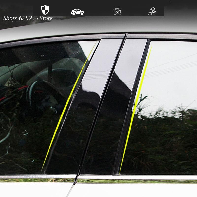 Автомобильная наклейка для Volkswagen VW Jetta MK7 2019 2020 2021, аксессуары для дверей, окон, средней колонки, декоративная защитная полоса