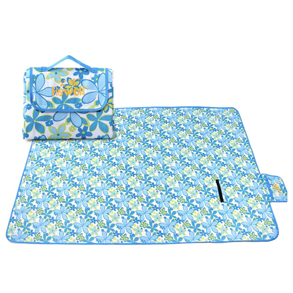 Открытый водонепроницаемый Оксфорд ткань газон пляж семейный парк коврик для пикника 2x1,5 м зеленый/синий/красный для 3 человек складной ков...