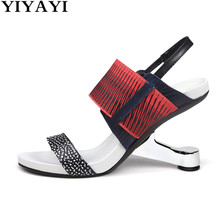 Special High Heels One Strap Women Sandals Real Leather Summ