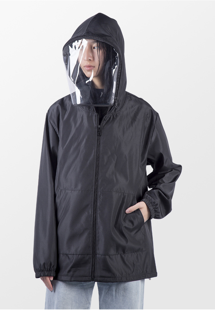 Unisex Isolation-Suit Reusable Anti Droplet Dust Isolation Clothing Jacket Anti Virus Protective Suit With Mask TPU Face Shield