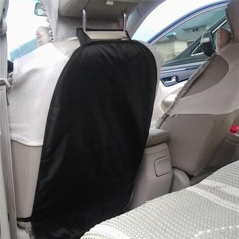 45X67cm oparcie siedzenia samochodu podkładka zapobiegająca kopaniu dla dzieci tylne siedzenie samochodu oparcie siedzenia Scuff Dirt pokrywa ochronna akcesoria samochodowe wnętrze tanie i dobre opinie NYLON Waterproof Oxford cloth Black 100g