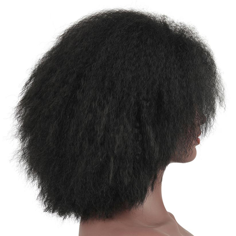 Image 3 - Pageup Afro Black Synthetic Short Wig Woman Red False Hair Cosplay Fluffy Short Hair Wig Curly Womens Wigs Sale For Black WomenSynthetic None-Lace  Wigs   -