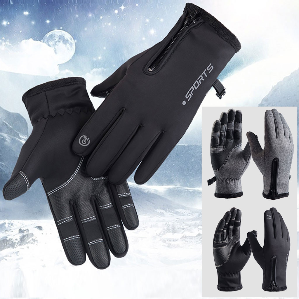 Touch Screen Windproof Waterproof Outdoor Sport Men Women Winter Warm Gloves