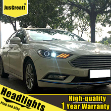 Led Koplampen Voor Ford Mondeo 2017 2020 Led dagrijverlichting Dynamische Signaal Bi Xenon Lage/Hoge beam 1 Paar