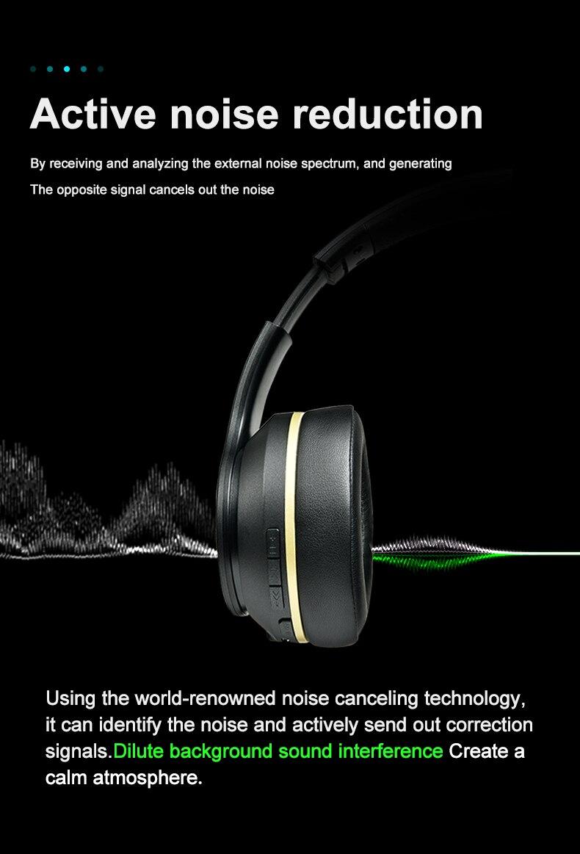 fio bluetooth 5.0 fone de ouvido dobrável