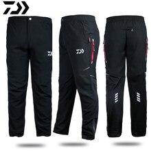 Одежда Daiwa штаны рыболовные быстросохнущие дышащие антистатические уличные рыболовные мужские свободные анти-УФ плюс размер ветрозащитные брюки