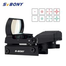 Mira telescópica para rifle SVBONY de 20mm, mira óptica holográfica roja de punto x 4 retícula, accesorios tácticos F9128