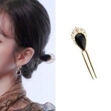black Vintage hair sticks hairclip for women DEL LUNA Hotel decoration Korean Fashion Hairpin IU Lee Ji Eun tv drama