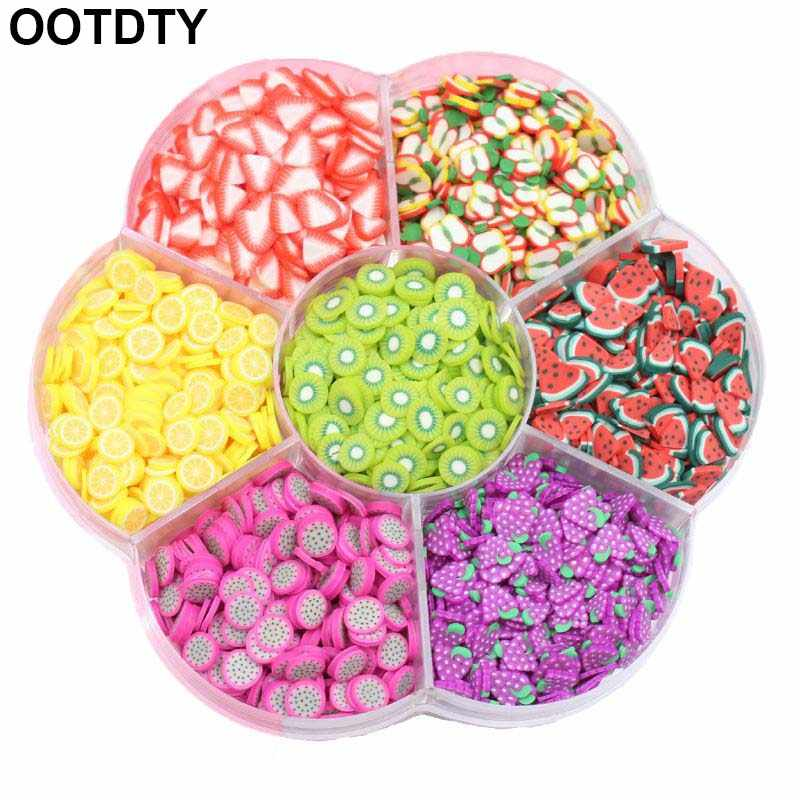 Assorted Fruit Slices 90g Fimo Wheel - Slime Supplies/Slime Acessories/Slime Add ins/Polymer Clay/Nail Art Kit Maker for Kids