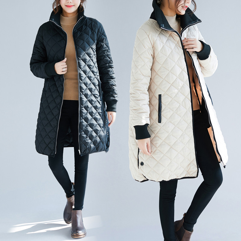 Winter Coat Women Long Parkas Free Size Loose Quilted Padded Thicken Long Coat Women Jacket Parka Chaquetas Mujer Invierno 2019