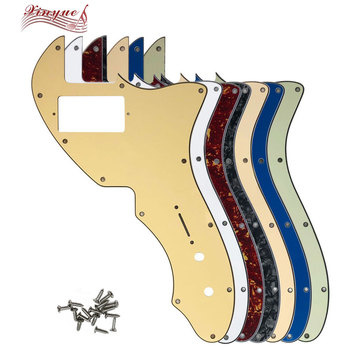 Pleroo Guitar Parts For 12 hole screws US Tele 69 Thinline Guitar Pickguard with PAF Humbucker Scratch Plate pleroo guitar pickguard for us 11 screw holes stratocaster with floyd rose tremolo bridge paf humbucker single hss scratch plate