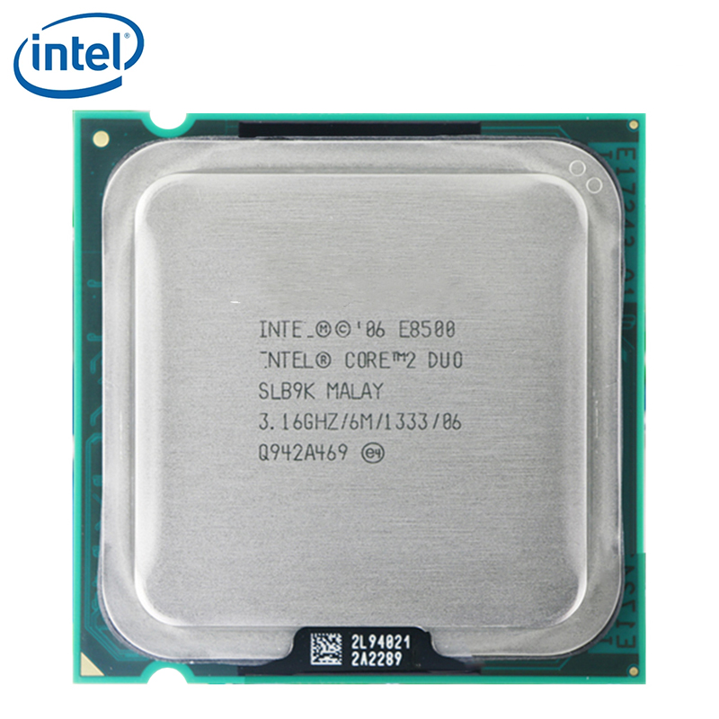 Intel Processor Lga 775 E8500 65w-Socket 1333mhz 6MB SLB9K 2-Duo CPU Tested SLAPK 100%Working title=