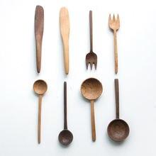 Деревянный Набор Посуды столовые приборы Ложка Вилка buttler