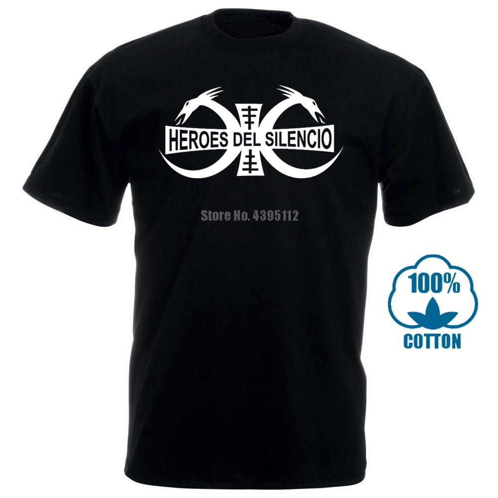 Heroes Del Silencio Rock Band Logo Men'S Black T Shirt S M L Xl Free Shipping Male Best Selling T Shirt