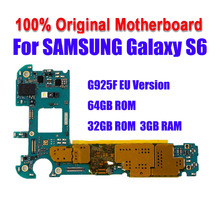 Pour Samsung Galaxy S6 edge G925F 32GB 64GB carte mère de téléphone officielle déverrouiller toute la carte mère avec des puces complètes IMEI OS carte mère