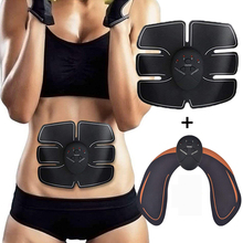2PCS/Lot EMS Slimming Massager Abdominal Muscle Stimulator Hip Trainer Electrostimulation Body Shaping Fitness Equiment Unisex