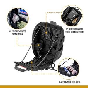 Image 5 - Onetigris primeiros socorros saco médico pacote kit médico desprender rápido emt/primeiros socorros bolsa tático edc airsoft trauma bolsa