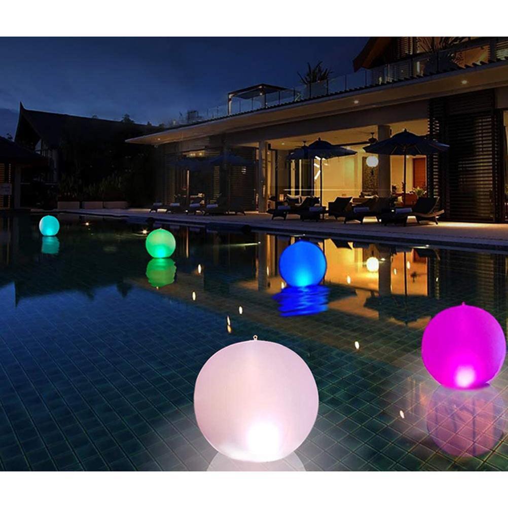 luz da noite decoração led piscina flutuador luz