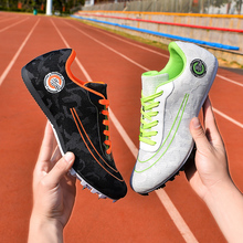 Summer Breathable Men Women Mesh Track Field Spikes Shoes Professional Athlete Running Shoes Mens Long Jump Spike Sneakers