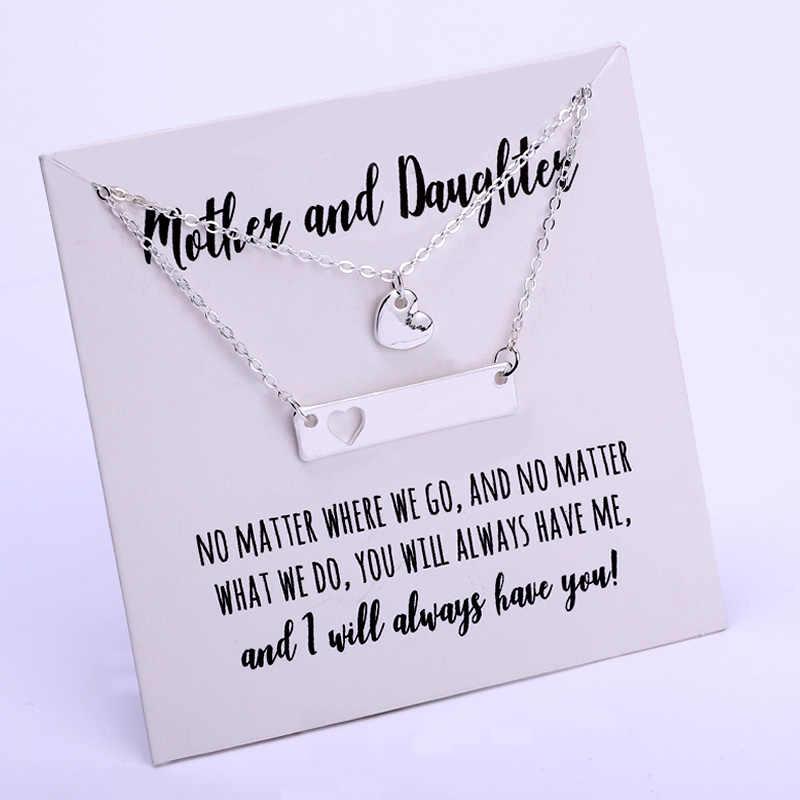 Matka i córka zestaw łańcuszek z sercem naszyjniki księżyc gwiazda para kochanek mama dzień matki urodziny siostra prezent najlepsi przyjaciele biżuteria