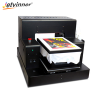 Jetvinner 8 color A3 Size DTG Printers R2000 Flatbed Printers For Adult and Children T shirt, Jeans, Shirt, Jecket, Canvas Bag