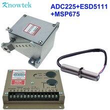 גנרטור מפעיל ADC225 12 V/24 V + מושל מהירות יחידת בקרת ESD5111 + מגנטי טנדר חיישן MSP675For דיזל סוגים
