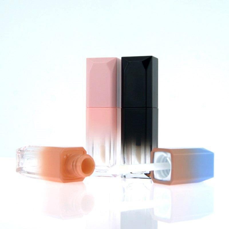 1 шт 5 мл Пустые контейнеры для бальзама для губ градиентные квадратные ABS трубки для блеска для губ портативные женские косметические многоразовые бутылки|Многоразовые бутылки|   | АлиЭкспресс