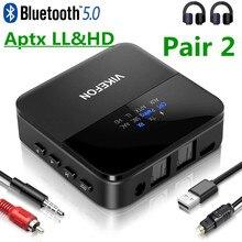 Bluetooth 5.0 receptor transmissor de áudio aptx hd ll baixa latência csr8675 adaptador sem fio rca spdif 3.5mm jack aux para o carro do computador da tevê