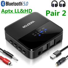 Bluetooth 5.0 Audio Transmitter Receiver AptX HD LL Low Latency CSR8675 Wireless Adapter RCA SPDIF 3.5mm Aux Jack for TV PC Car