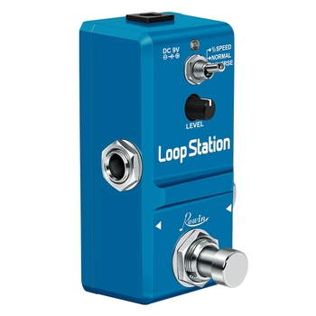LN-332AS Loop Station Looper Guitar Effects Pedal Unlimited Overdubs 10 Minutes of Looping, 1/2 Time Reverse