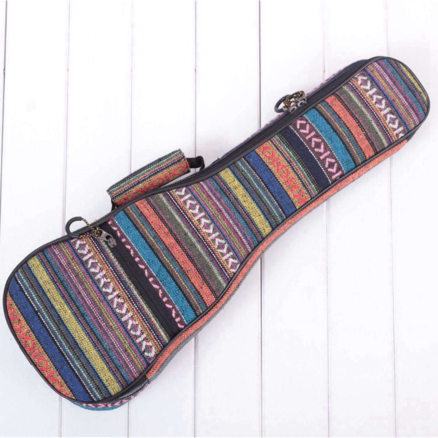26inch Padded Cotton Folk Portable Bass Guitar Bag Ukulele Case Box Cover Guitar Backpack With Double Strap