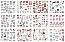 12 projetos russo texto decalques de água do prego sexy lábios dedo sexy menina transferência slider rússia palavras manicure tatuagens conjunto