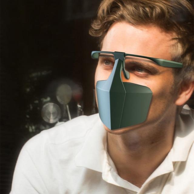 Reusable Face Shield Protective Facial Mask Anti Fog Droplets Saliva Anti-Splash Dust Isolating Face Visiere protection Visor 3