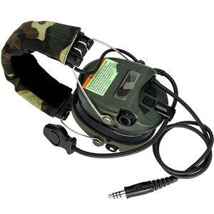 Image 2 - سماعات رأس التكتيكية Sordin للصيد والرماية سماعة لاقط العسكرية للحد من الضوضاء سماعات حماية لسماع FG + U94 2 Pin ptt