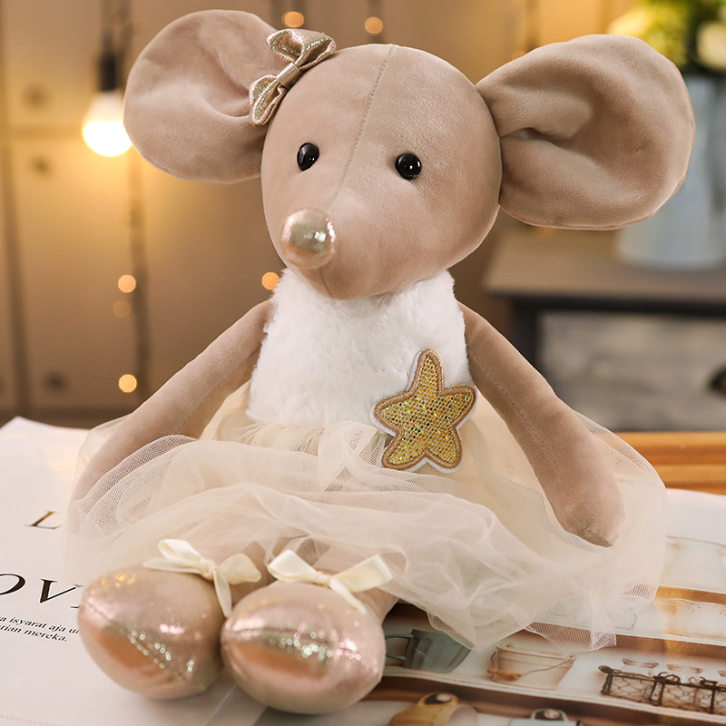 42cm Lovely Ballet Mouse Plush Toys Soft Stuffed Cute Dressing Animals Dolls Baby Finger Pillow For Kids Girls Birthday Gifts