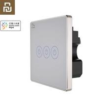 Youpin PTX اللمس التبديل القياسية الكريستال والزجاج لوحة صفر خط ربط ضوء الجدار مفاتيح شاشة لمس للتحكم APP