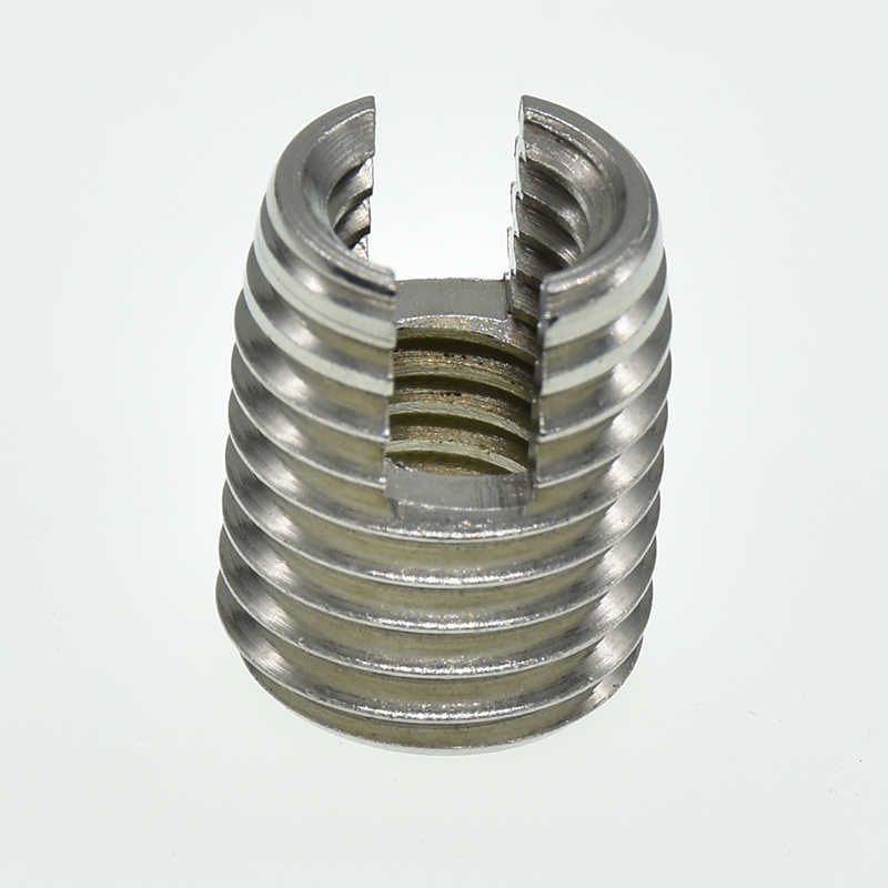 M2 M2.5 M3 M4 M5 M6 M8 M10 M12 stainless steel Threaded Inserts Metal Thread Repair Insert Self Tapping Slotted Screw Threaded