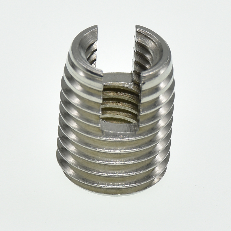 <font><b>M2</b></font> <font><b>M2</b></font>.5 M3 M4 M5 M6 M8 M10 M12 stainless steel Threaded Inserts Metal Thread Repair Insert Self <font><b>Tapping</b></font> Slotted Screw Threaded image