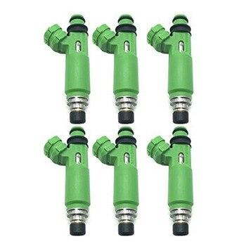 6Pcs/Lot Fuel Injectors 195500-3170 1955003170 MD332733 for Mitsubishi Montero Sport 3.0L 6G72 1998-2003