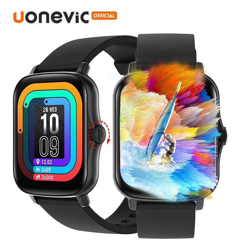 Смарт-часы Uonevic Y20, водонепроницаемые часы с функцией телефона и Bluetooth, часы «сделай сам», фитнес-трекер для лица, спортивные Смарт-часы для му...