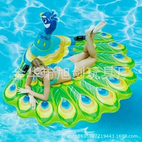 Manufacturers Direct Selling New Style Thick Extra large Peacock Inflatable Rides Floating Row Water Floating Bed Peacock Swimmi